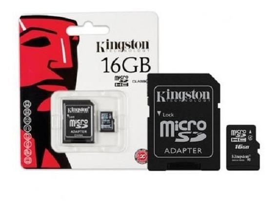 Cartão Sd 16gb + Adaptador Para Cartão - Kingston