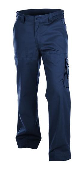 Pantalón Cargo De Trabajo Araucaria Gabardina Azul Hombre