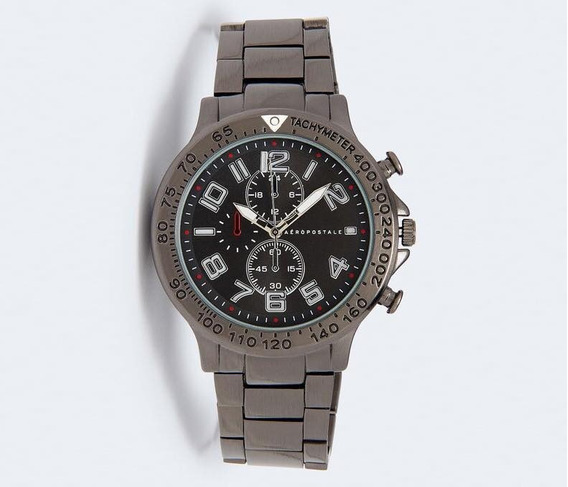 Reloj Aeropostale Hombre Extensible Metalico Original Importado