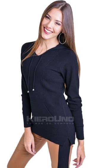 Sweater Canguro Mujer Fino Sweater Saco Con Capucha