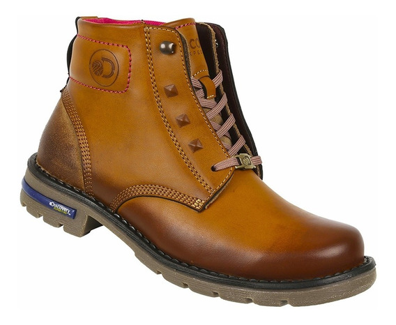 Bota Discovery Ds1990 Color Camel. Mujer