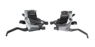Par De Manijas Shifters Integrados Shimano Alivio Para Cambio 3x9 27v Y Frenos Mecanicos Modelo St M4000