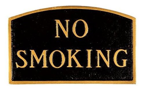 Imagen 1 de 1 de Montague Metal Products Sp9smbg No Smoking Arch Statement Pl