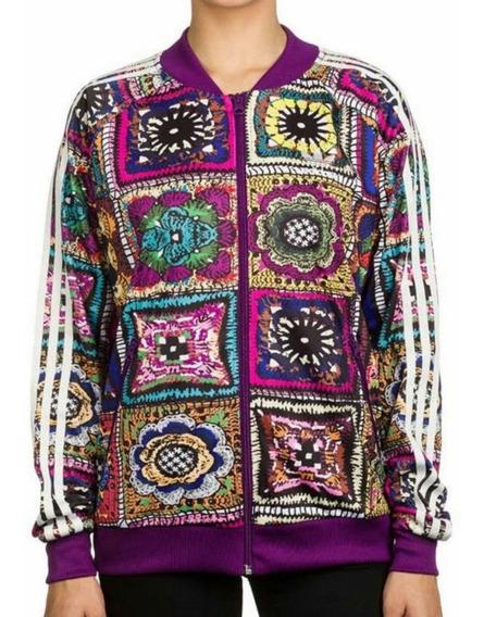 Jaqueta Casaco adidas Farm M Original Crochita Flores Linda