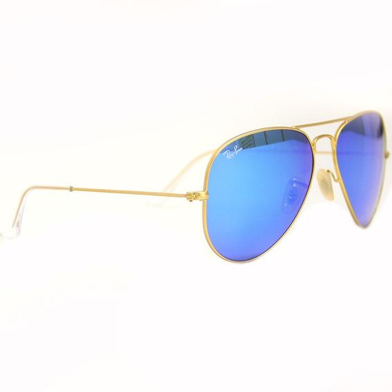 Óculos De Sol Feminino Ray Ban 3025 Aviador Tam. 55 Original