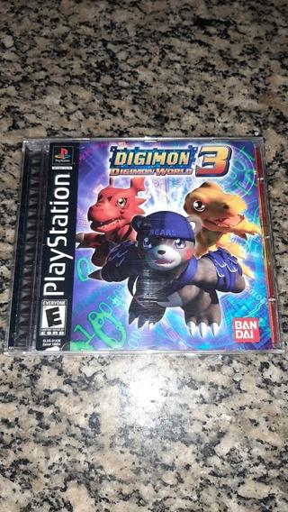 Digimon World 3 Ps1 Original Americano