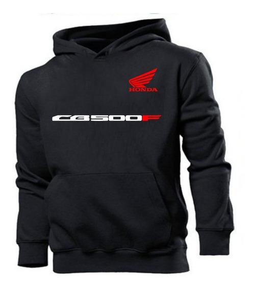 Blusa Moletom Canguru Casaco Honda Cb 500 F Motos