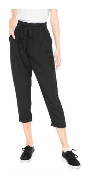 Calça Feminina Jogger Amarração Preta - Calvin Klein