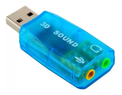 Tarjeta De Sonido Externa Usb 2.0 Audio Virtual Dj 3d 5.1 ®