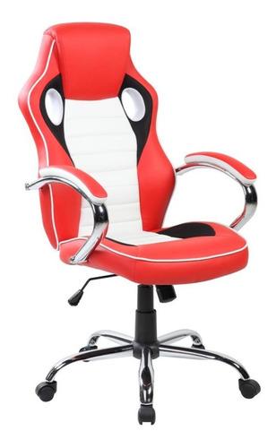 Imagen 1 de 1 de Silla de escritorio AyP Equipamientos Maranello gamer ergonómica  roja y blanca con tapizado de cuero sintético