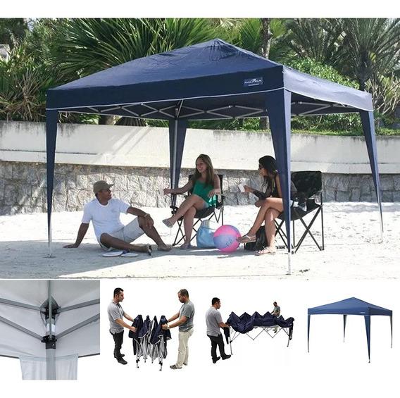 Tenda Sanfonada Gazebo Praia 3x3 Articulado Dobrado Trixx