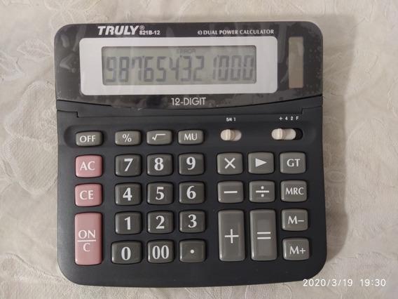 Calculadora De Mesa Truly 12 Dígitos Modelo: 821b - 12