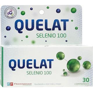 Quelat Selenio 100 Minerales Aminoquelados 30 Comp Original