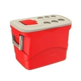 Caixa Térmica 50l Grande Soprano Vermelha Quente Frio 34418