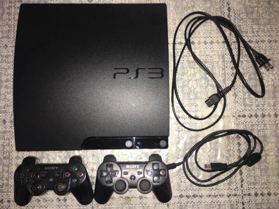 Playstation 3 Slim 150gb + 2 Controles + Jogos