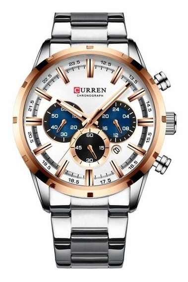 Relogio Curren Silver Rose Watch