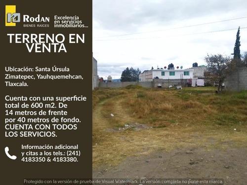Terreno Industrial En Venta Santa Ursula Zimatepec