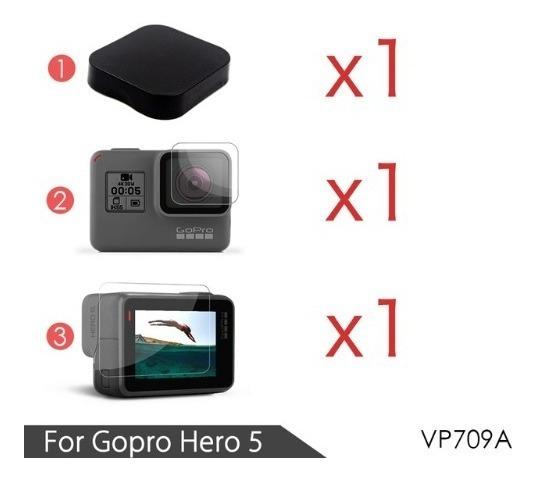 Película Protetora Filme Compatível Gopro Hero 6 5 + Tampa