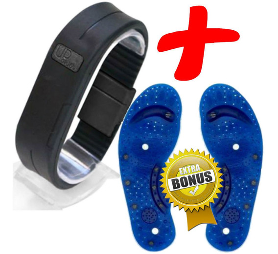 Braceletes C/ 2 Imãs Upower Original + Palmilha De Brinde