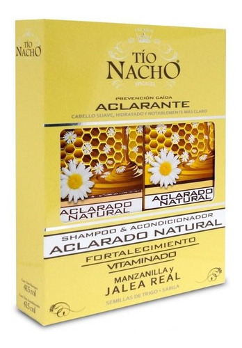 Imagen 1 de 4 de Pack Tio Nacho Aclarante Shampoo 400 Ml + Ac. 400 Ml