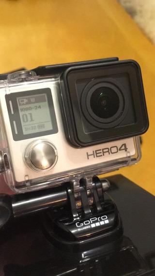 Gopro Hero 4 Com Vários Acessórios E Cartão 32gb