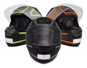 Capacete Moto Ebf E0x Titanium Vários Tamanhos E Cores