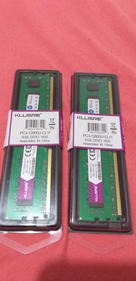 Kit Memória Ram 16gb Ddr3 2× 8gb 1600mhz Kllisre Para Amd.