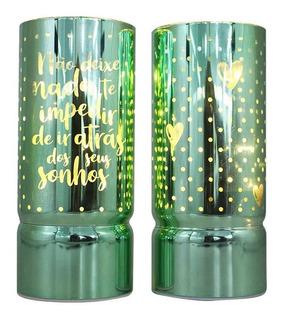 2 Luminárias De Vidro Ir Atrás Dos Seus Sonhos Zc 10082343