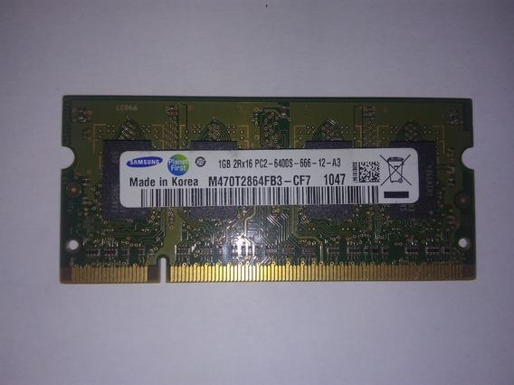 Memória Samsung 1gb - Pc2-5300 555 Mhz Ddr2 Sodimm