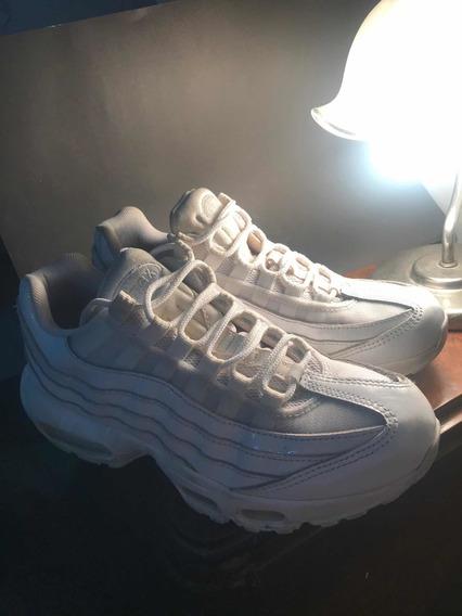 Zapatillas Nike Air Max 95 White Talle 8 Us 39 Muy Poco Uso