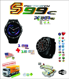 Smartwatch S99c Android 5.1 Tela 1.39 Wifi, Gps, Bluetooth
