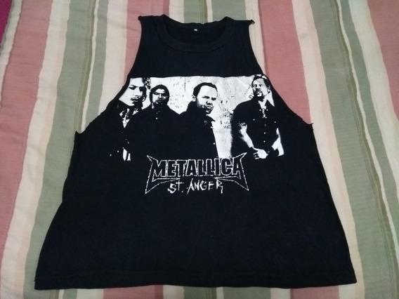 Musculosa Negra Metallica Rock