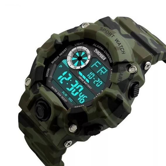 Relógio Masculino Esportivo Militar Shock À Prova D