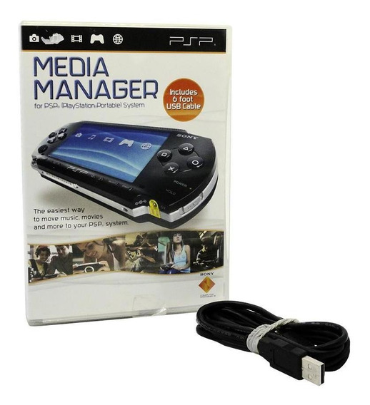 Media Manager Gerenciador De Mídia Psp + Cabo Usado