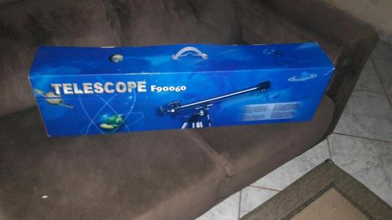 Telescopio Refrator Pouco Usado 675x Alumínio Tripé F90060