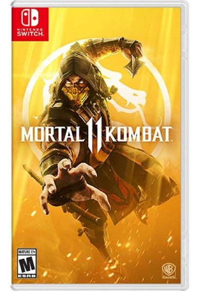 Mortal Kombat 11 Switch Mídia Física Novo Lacrado