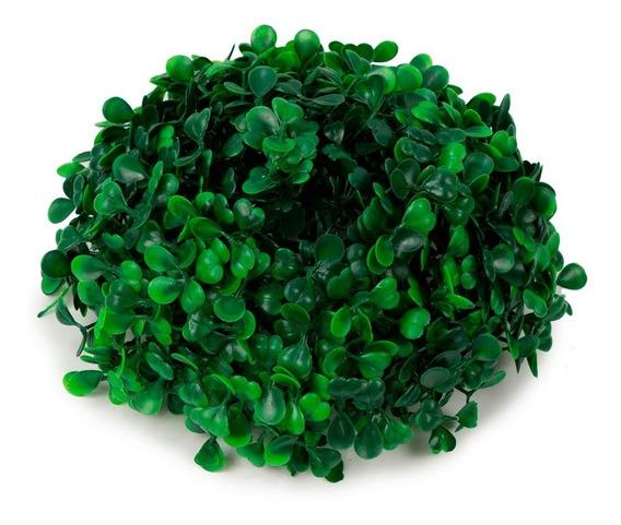 Decoracion Topiario Esfera De Follaje Sintetico Verde 18 Cm