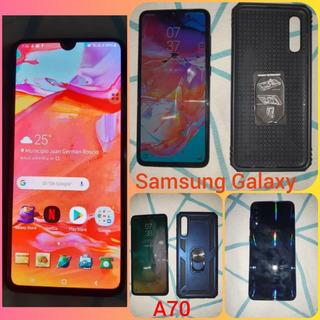 Samsung Galaxy A70 Con Su Caja Y Accesorios, Sin Un Detalle