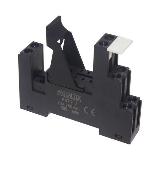Soquete Prt7-2-2b Para Relé Miniatura Jx2 2rev. Para Trilho