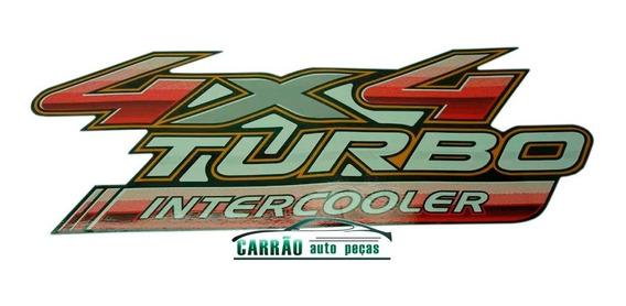 Par Emblema Adesivo Toyota Hilux 4x4 Turbo Intercooler