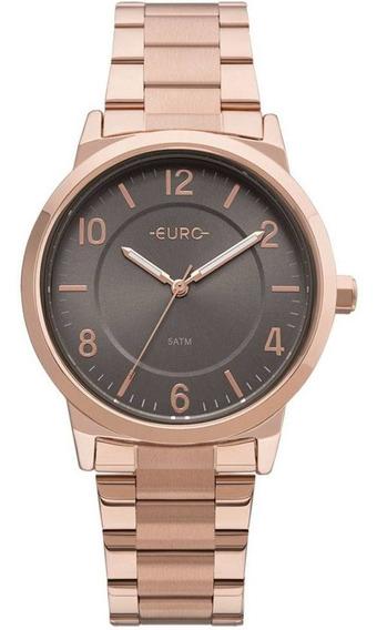 Relógio Eu2036yly/4j Feminino Trendy Rosé Analogico Euro