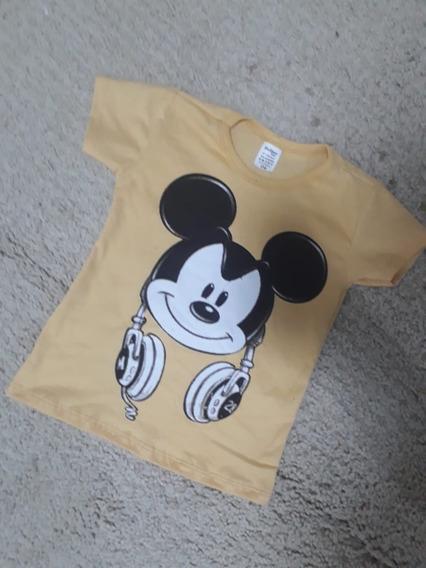 Camisa Mickey Infantil Masculino Kit Com 10 Blusa Atacado
