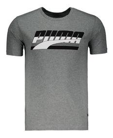 Camiseta Puma Rebel Basic Tee Cinza