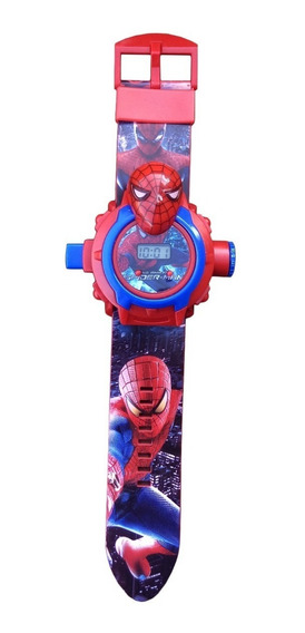 Relógio Projetor Infantil Imagem Homem Aranha Brinquedo