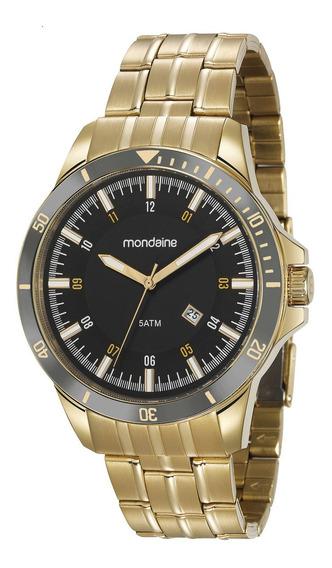 Relógio Mascuino Mondaine Dourado 78762gpmvda2 Nfe/original