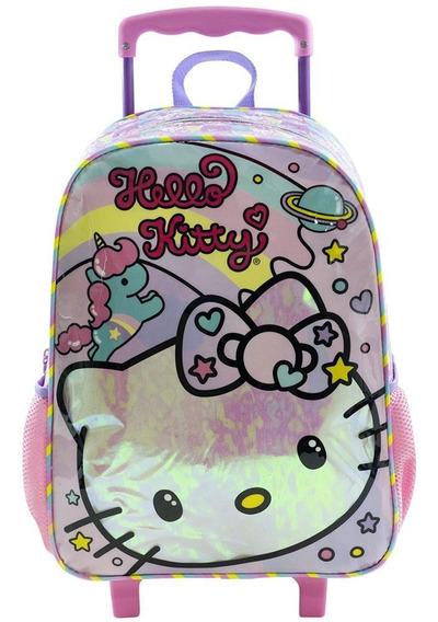 Mala Com Rodinhas Nº 16 30x40 Cm Hello Kitty Rainbow Xeryus
