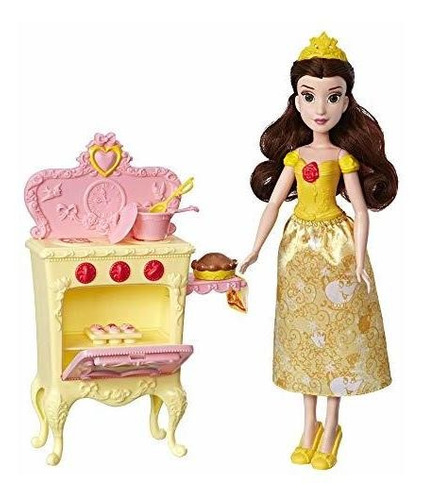Imagen 1 de 7 de Princesa De Disney Belle Con Cocina Muñeca