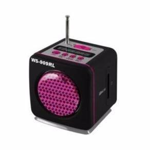 Caixa De Som Portátil Ws-909 Rl Usb Fm Mp3 Pen Drive Carrega