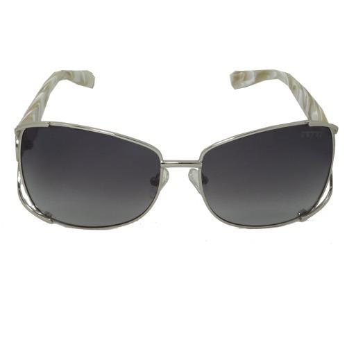 Óculos De Sol Quadrado Preto Perola Geror 02635 Desconto 50%