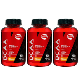 Aminofor Bcaa Tangerina - 3x 60 Tabletes - Vitafor